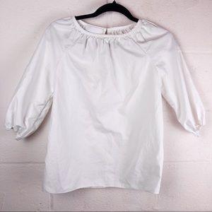 Co | XS | white half puffed sleeve top